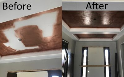 Ceiling Paint Before And After